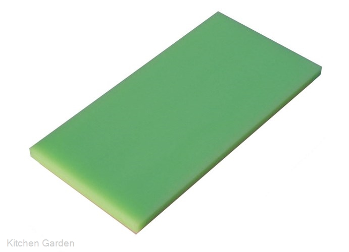 瀬戸内一枚物カラーまな板グリーン K6 750×450×H30mm .【業務用プラスチックまな板】
