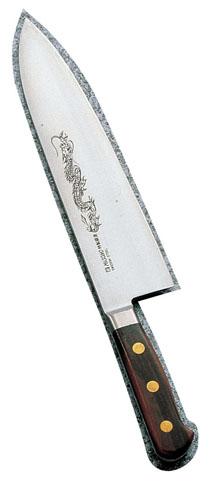 ミソノ・スウェーデン鋼(龍彫刻入)洋出刃 No.150M 16.5cm
