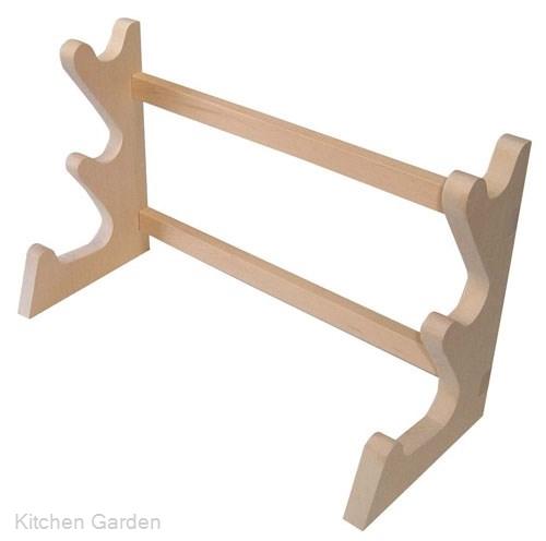 木製 卓上麺棒掛 3段