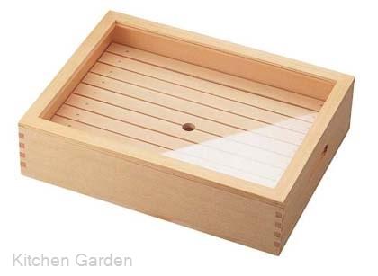 木製 ネタ箱 目皿・アクリル蓋付 大
