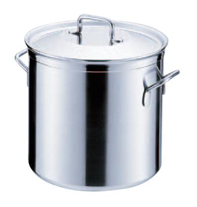 シットラムイノックス18-10 ステンレス 寸胴鍋 三重底 (蓋付)40T 40cm