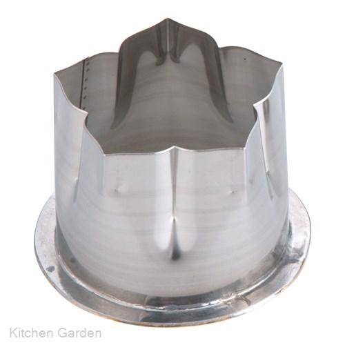 穴クリ芯抜き型 外仕上げ用 桔梗 40mm用 .[18-8 ステンレス製]