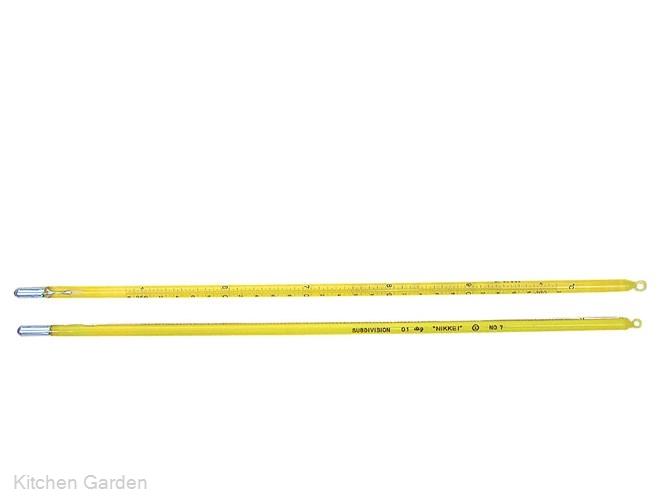 標準棒状温度計 JC-1153 3号 100~150℃ .【棒型温度計】