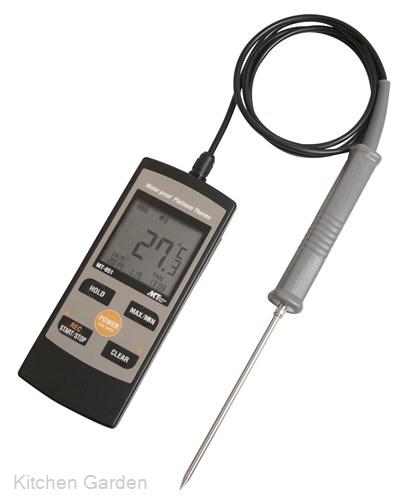 白金デジタル防水温度計 MT-851 標準センサー付 .【温度計センサー】