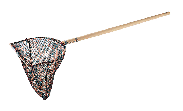 代引き手数料無料 木柄 玉網長三角型(活魚用) 40cm, 士幌町 da01815f