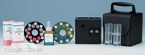 DPD法残留塩素測定器 エンパテスターS (pH測定器付) .【水質検査用品】