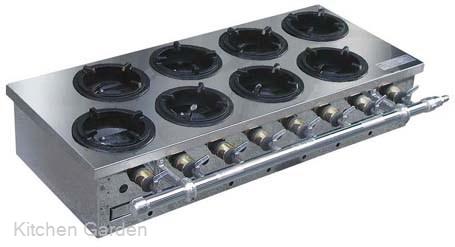 鍋焼き用ガステーブル AN-10(10ヶ口)都市ガス【他商品との同梱配送不可・代引不可】