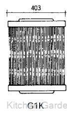 グリットバー(スチール製) G1K .【業務用調理用品のキッチンガーデン ~飲食店舗用品・厨房用品専門店~】