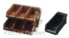 SA 18-8 ステンレス  デラックス オーガナイザー 2段3列(6ヶ入) ブラック