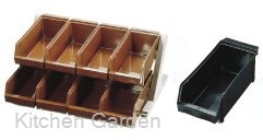 SA デラックス オーガナイザー 2段4列(8ヶ入) ブラック .[18-8 ステンレス製]