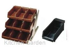 SA デラックス オーガナイザー 3段3列(9ヶ入) ブラック .[18-8 ステンレス製]