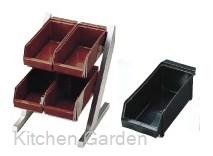 SA コンパクトオーガナイザー 2段2列(4ヶ入)ブラック .[18-8 ステンレス製]