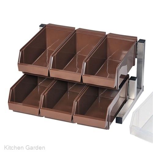 TKG スマート オーガナイザー 2段3列(6ヶ入) ホワイト .[18-0 ステンレス製]