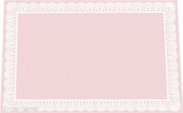 和風の和紙テーブルマット SEAL限定商品 セール 懐石御膳や和食料理の敷紙としてどうぞ 無蛍光和紙テーブルマットレースB ピンク TE-M11 100枚入 M