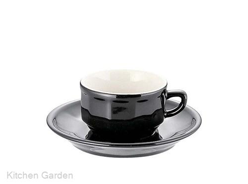アピルコフローラモカカップ&ソーサーPTFLMFL(6客入)ブラック .【業務用調理用品のキッチンガーデン ~飲食店舗用品・厨房用品専門店~】