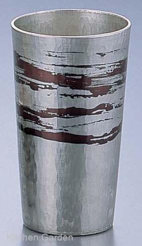 銅錫被 刷毛目ストレートカップ SG009 120cc .[銅製]