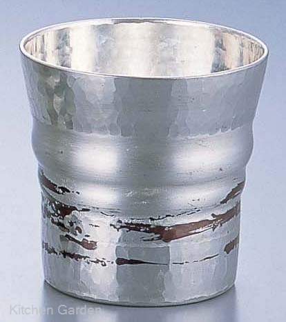 銅錫被 刷毛目ロックグラス SG014 270cc .[銅製]
