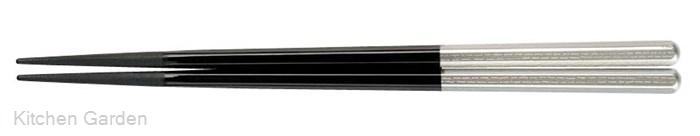 PBT六角箸(10膳入り) 黒/銀 90030716