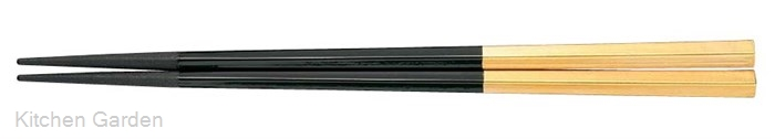 PBT五角箸(10膳入り) 黒/金 90030609