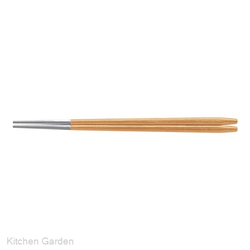 箸先アルミ焼肉箸(10膳入り) ベージュ 90031360