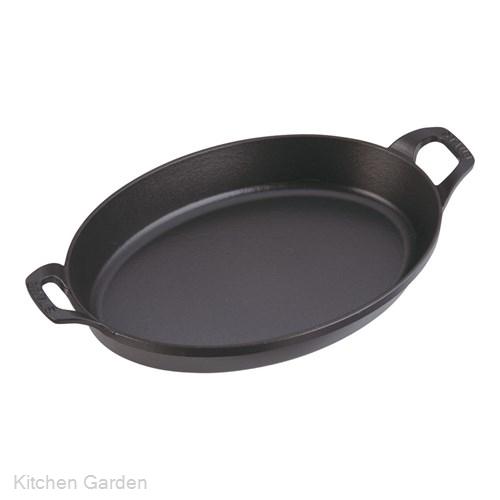 ストウブ オーバルスタッカブルディッシュ 32cm 黒 40509-342 .[鉄製]