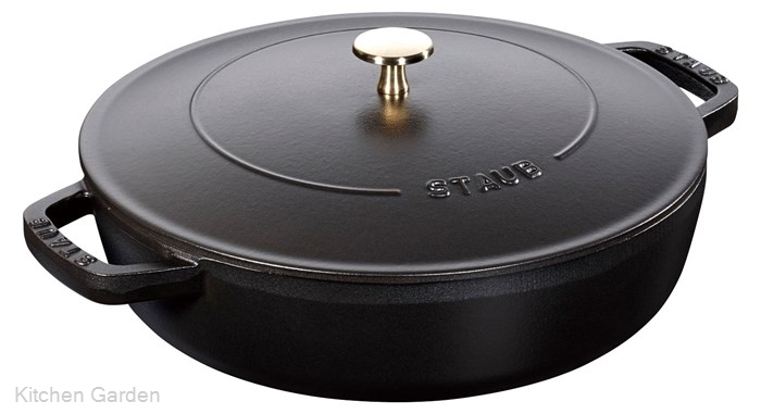 ストウブ ブレイザー・ソテーパン 24cm 40511-473 ブラック .【業務用調理用品のキッチンガーデン】