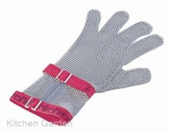 ニロフレックス メッシュ手袋5本指 M C-M5赤 ショートカフ付