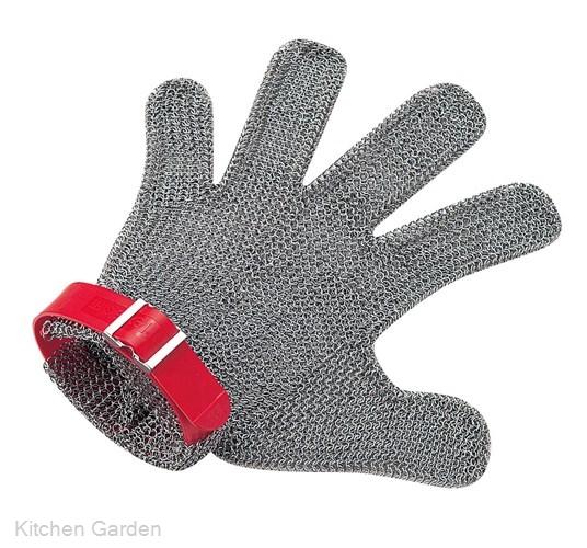 ニロフレックス メッシュ手袋5本指 M M5L-EF 左手用(赤)