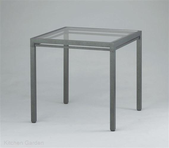 キューブテーブル ハンマーシルバー AGC-CT800