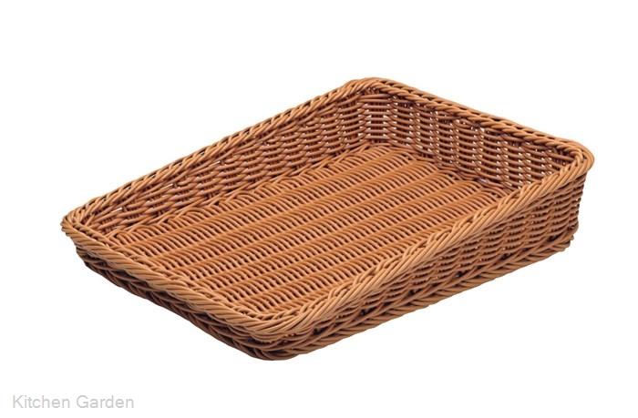 樹脂製太渕ディスプレイかご 傾斜型 大 茶 91-027A