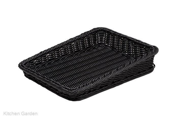 樹脂製太渕ディスプレイかご 傾斜型 大 黒 91-027B