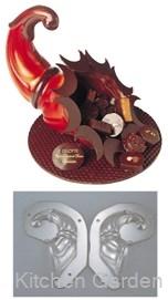 デコレリーフ チョコレートモルド ホーン型 EU-735 .【業務用調理用品のキッチンガーデン ~飲食店舗用品・厨房用品専門店~】