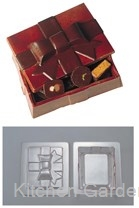 デコレリーフ チョコレートモルド ボックス型 EU-648 .【業務用調理用品のキッチンガーデン ~飲食店舗用品・厨房用品専門店~】