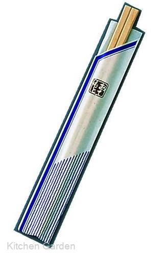 割箸袋入 ピース紺 白樺元禄 20.5cm (1ケース100膳×40入) .【割り箸・わりばし】