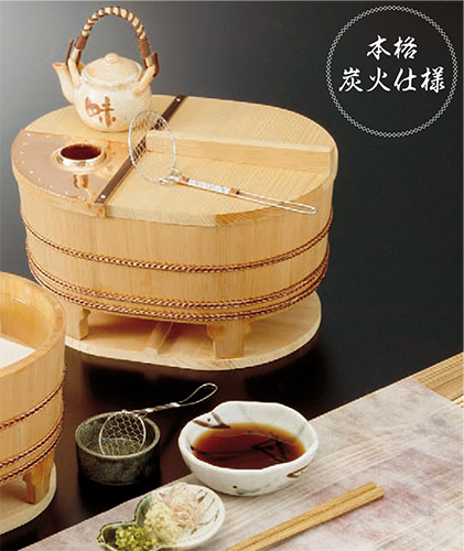 椹・小判型湯豆腐セット(2人用) (US1022)【他商品との同梱配送不可・代引不可】