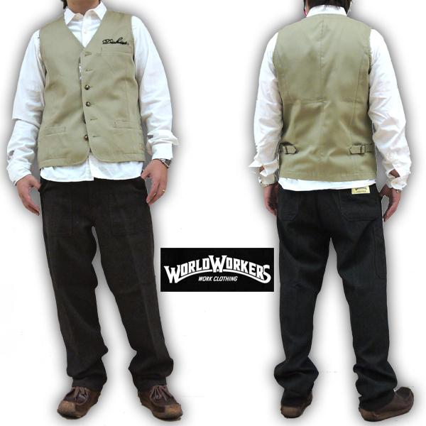 ワールドワーカーズ WORLD WORKERS BIG JOHN ビッグジョン シームレスペインターパンツ ウールヘリンボーン WR505C-W52 メンズ