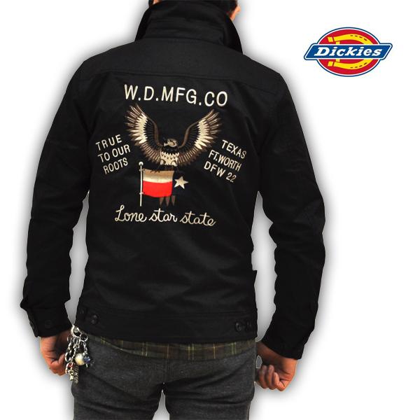 ディッキーズ Dickies T/Cツイルジャケット ワークジャケット 刺繍モデル 151M10WD11 BK メンズ