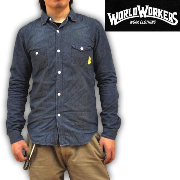 ワールドワーカーズ WORLD WORKERS BIG JOHN ビッグジョン クラシックデニムシャツ トリプルステッチワークシャツ MWS005B-113 日本製 メンズ