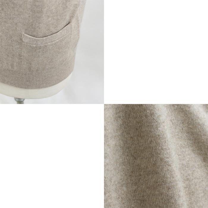 メンズ カシミヤ100% 前開きベスト ニット セーター LLサイズ カシミアセーター 日本製 (父の日 プレゼント ギフト 贈り物 ベーシック 定番 紳士 男性用 無地 暖かい 40代 50代 60代 70代)