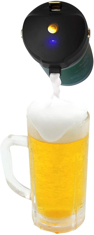 TEES SEET 超音波式 ハンディ ビールサーバー セール 登場から人気沸騰 ビアサーバー 泡立て 缶ビール用 父の日 極細泡 黒 オンライン飲み会 ピクニック クリーミー泡 プレゼント 未使用品