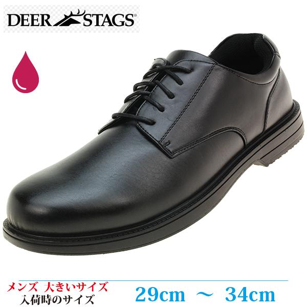 【ビジネスシューズ 紳士靴 30cm WIDE メンズ ビッグサイズ】 DEERSTAGS CROWN クラウン ラウンドトゥ プレーントゥ 軽量 撥水 (ディアースタッグ 902 Crown Oxford) BLACK (ブラック・フェイクレザー)
