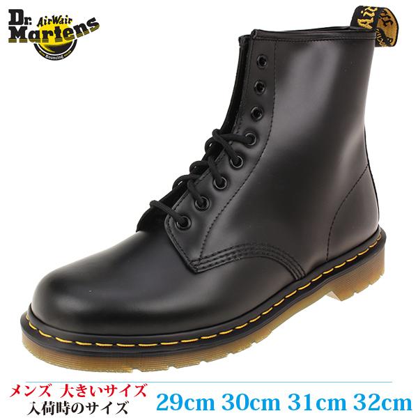 【ブーツ 29cm メンズ ビッグサイズ】 DR. MARTENS ドクターマーチン 8EYE BOOT SMOOTH (8 ホールブーツ スムース) 1460 (10072004) BLACK