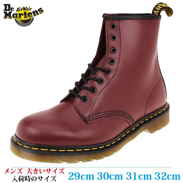 【ブーツ 30cm メンズ ビッグサイズ】 DR. MARTENS ドクターマーチン 8EYE BOOT SMOOTH (8 ホールブーツ スムース) 1460 (10072600) CHERRY RED