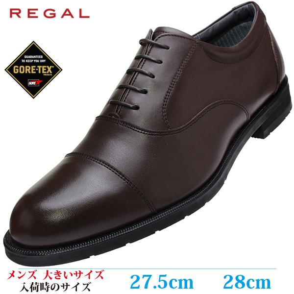 【ビジネスシューズ 紳士靴 28cm 3E メンズ ビッグサイズ】 REGAL ラウンドトゥ ストレートチップ 革靴防水 (リーガル 32NR BCEB) DARK BROWN (ダークブラウン)