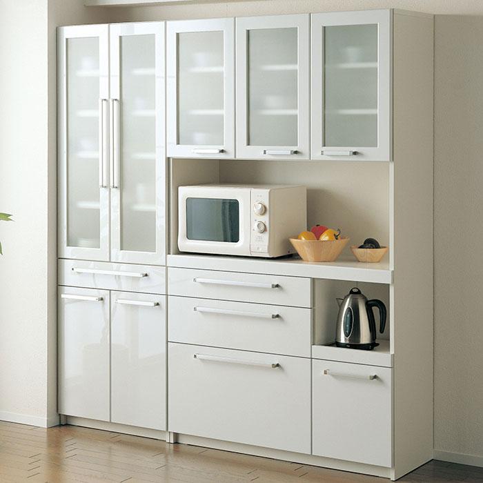 パモウナ YC 食器棚 幅60×高さ180cm プレーンホワイト カップボード 食器棚 開梱設置無料 薄型 省スペース 奥行き40cm 汚れにくい 新築 リフォーム 引っ越し 新生活