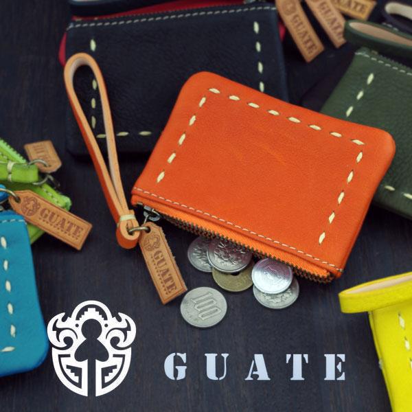 キュートで機能的なコインケース 正規店 メール便OK GUATE グアテ レザー小銭入れ guate コインケース 新品