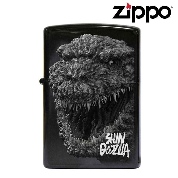 【メール便OK P】 Zippo シン・ゴジラ マイクロレーザー ブラックチタンコーティング シリアルナンバー入り ジッポー SHIN GODZILLA オイルライター