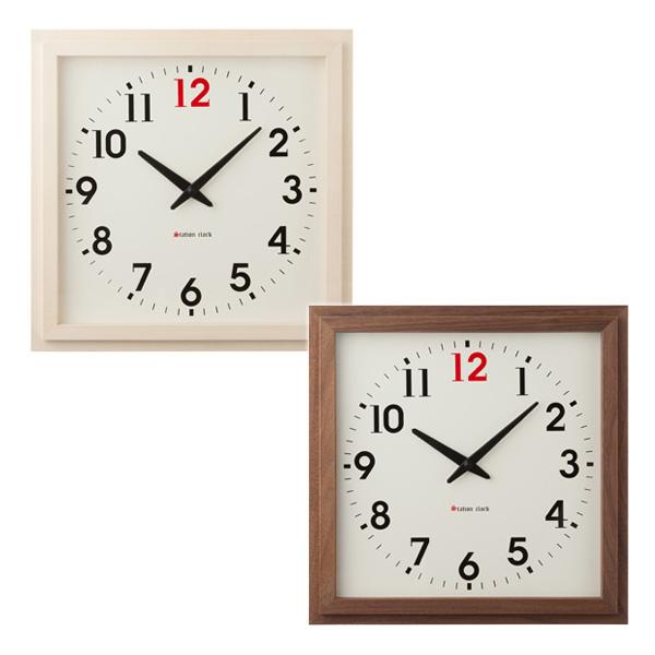 La Luz ラ・ルース ステーションクロック NT109011/BR108610 掛け時計 日本製 木製