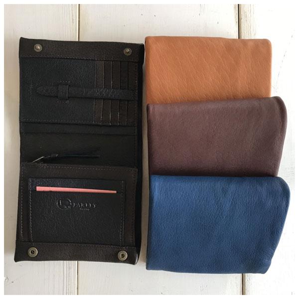 PARLEY パーリィー ディアスキン 二つ折り財布 DS-25 鹿革 日本製 折財布 ディアシーブ