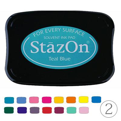 金属、プラスチック、コート紙などへの捺印にピッタリ! ツキネコ ステイズオン SZ 速乾性油性スタンプパッド part2 StazOn